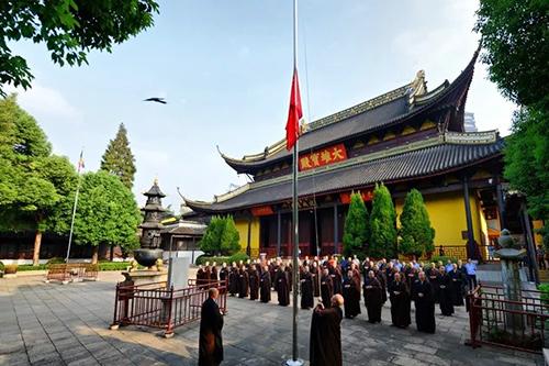 常州天宁禅寺举行升国旗仪式