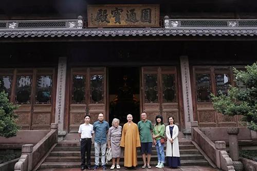 德国慕尼黑大学梅塔教授参访宁波七塔禅寺