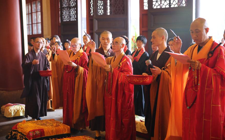 【高清图集】天童禅寺法堂装修竣工 迎来佛陀说法圣像开光