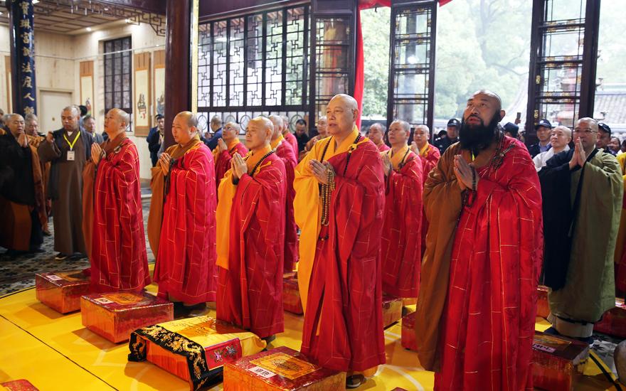 纪念圆瑛大师诞辰140周年于天童禅寺举行