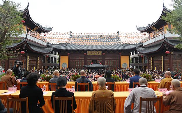 【高清图集】百年古刹重光 上海欢娱寺举行全堂佛像开光庆典法会