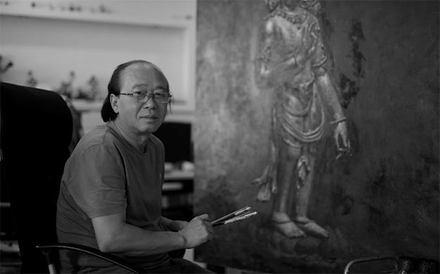 第五届世界佛教论坛召开期间 周俊茂佛教油画艺术展在莆田展出