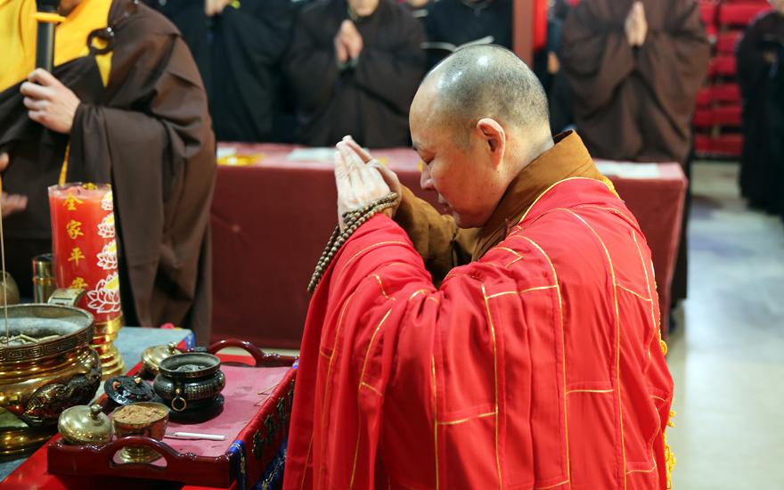 【高清图集】上海省殿禅寺启建中峰三时系念法会