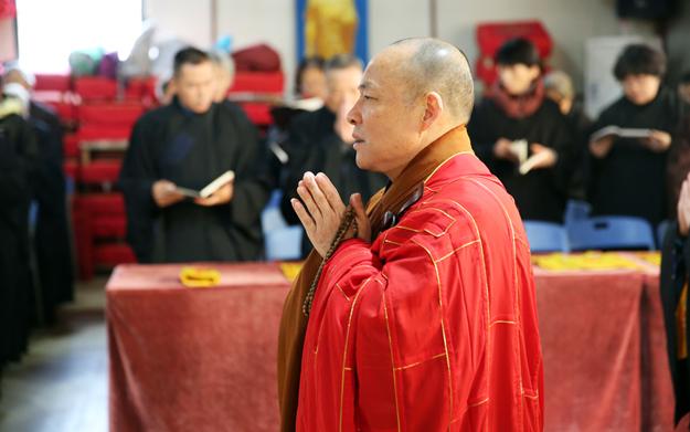 上海省殿禅寺启建中峰三时系念法会