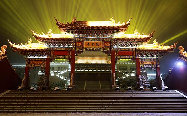 【高清图集】会稽山龙华寺举行2019新年祈福供灯撞钟法会
