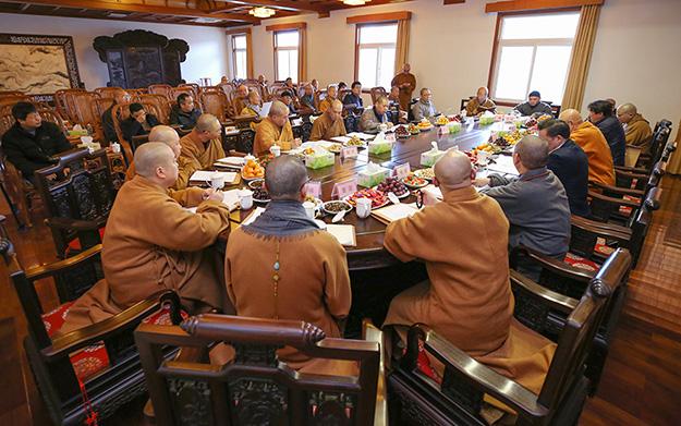 普陀山佛教协会2018年年终总结大会进行分组讨论