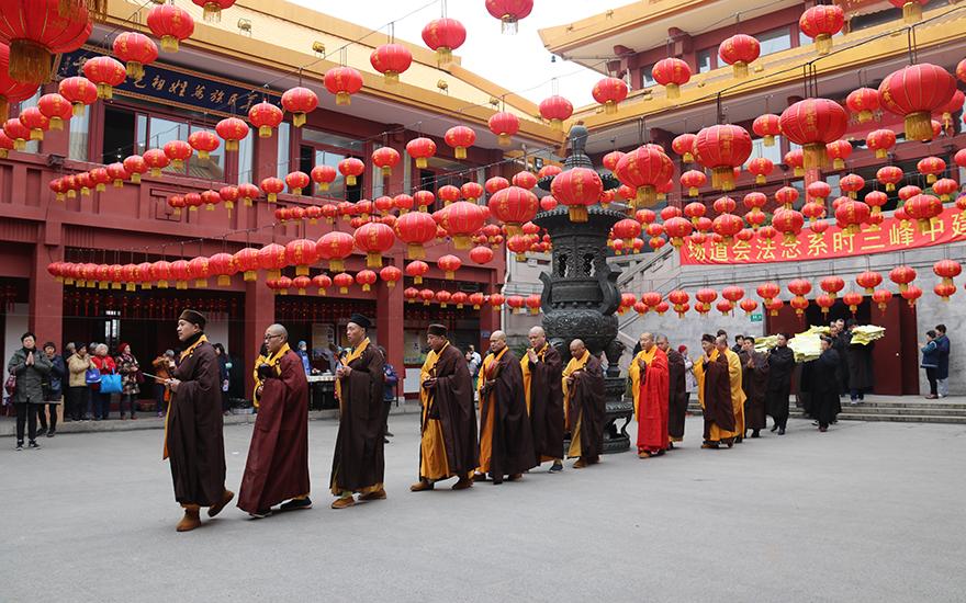 【高清图集】上海七宝教寺启建祭祖报恩法会