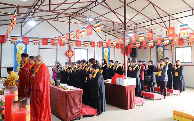 上海省殿禅寺举行迎新年祈福吉祥法会