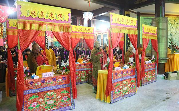 上海松隐禅寺隆重举行供佛斋天祈福法会