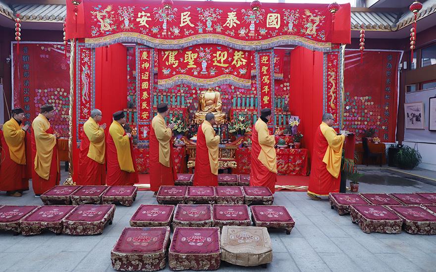 【高清图集】上海七宝教寺举行大供天法会