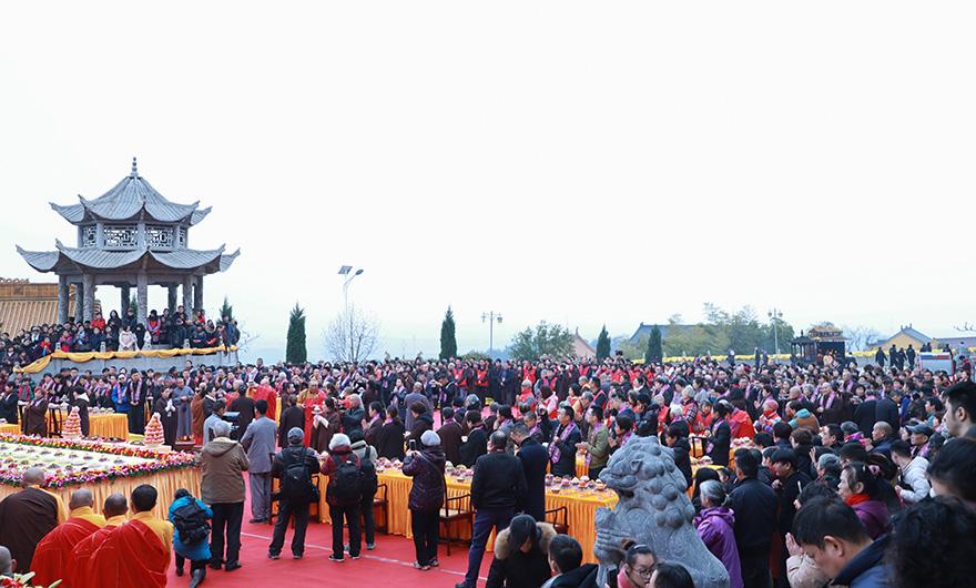 【高清图集】南京宏觉寺举行追思宏成老和尚圆寂五周年传供法会
