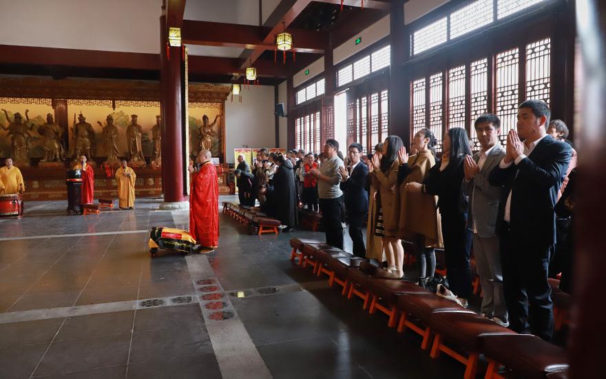 【高清图集】上海欢娱寺举行万福征集暨欢喜天圣像奠基、种植合欢树仪式