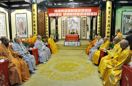 【高清图集】韩国佛教代表团一行参访上海玉佛禅寺