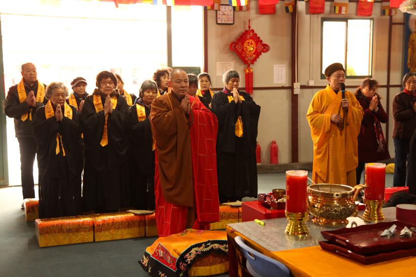 【高清图集】观音菩萨圣诞日 上海省殿禅寺四众弟子诵经礼佛