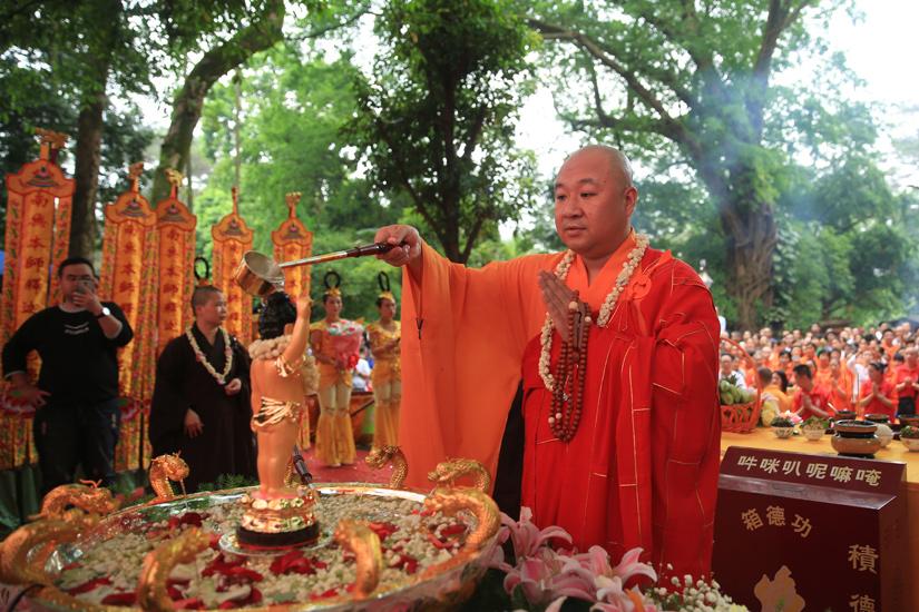 【高清图集】广西桂平西山第十一届浴佛节暨《狮子吼之巨赞法师》开机仪式启动