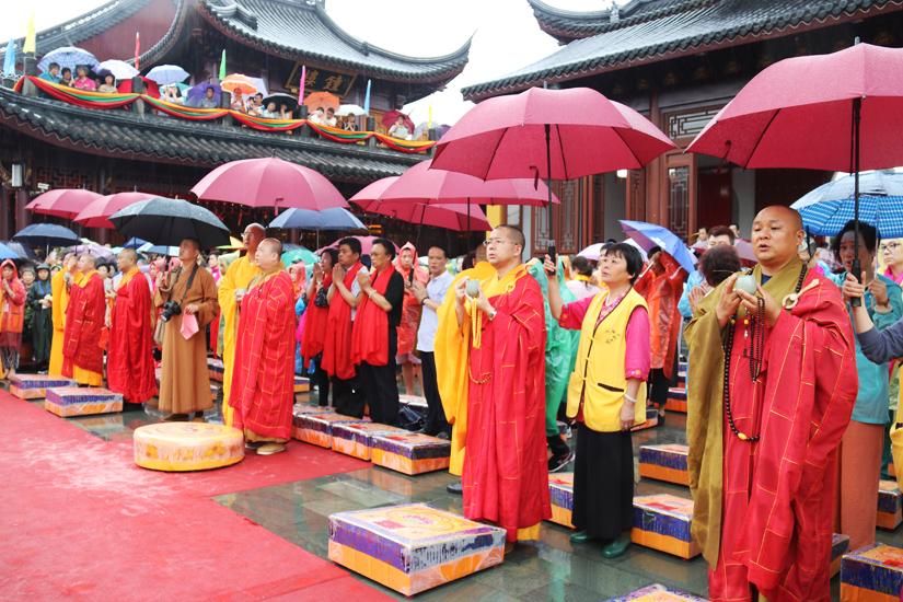 【高清图集】上海性觉寺弥勒圣像暨四大天王开光 利益安乐一切众生