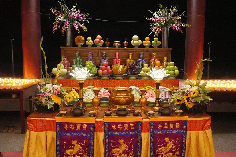 【高清图集】祈福消灾 雪窦山华林讲寺举行供天法会