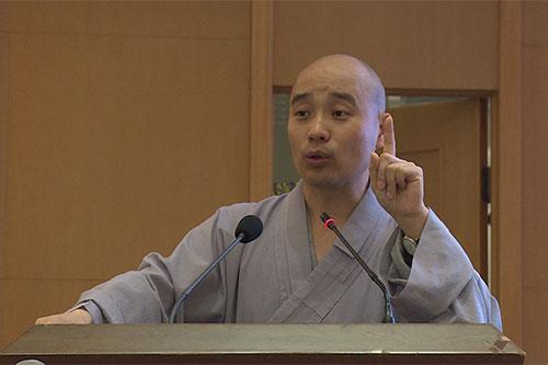 宗性副会长为引礼师开示《自知与人师》