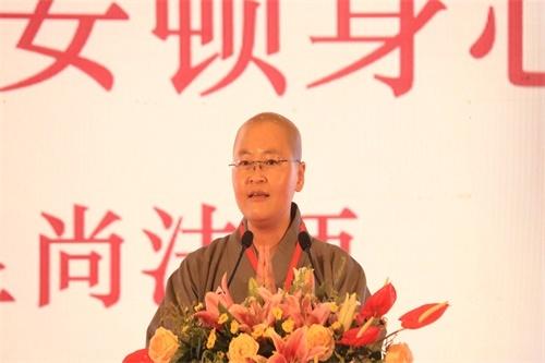 兰州市佛教协会理事显尚娱乐老虎机宣讲《如何安顿身心》