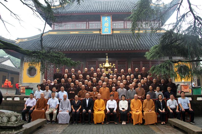 【高清图集】中国佛学院灵岩山分院举行第十九届开学典礼