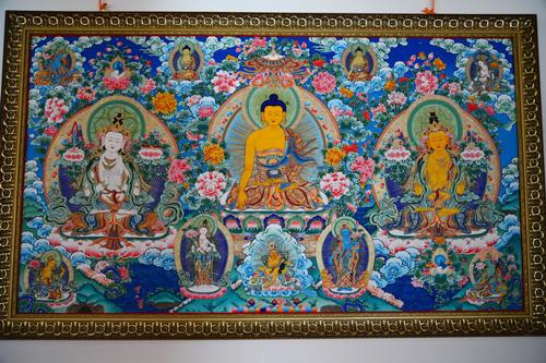 唐卡:藏族传统绘画佛教艺术品