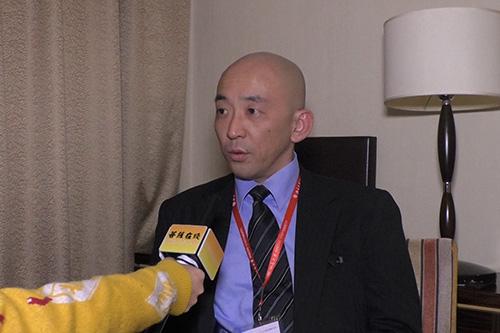 浙江华严文化节现场采访吉田叡礼教授