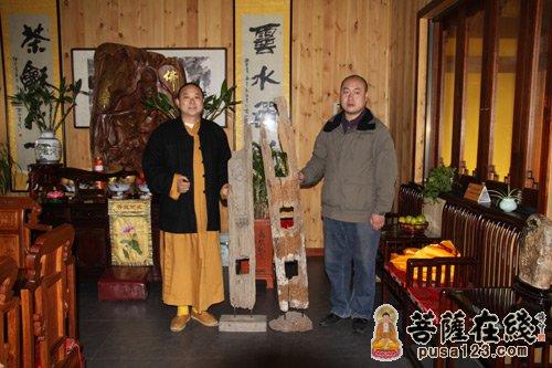 王勇先生为南山古寺捐赠佛像 灵宏法师接待