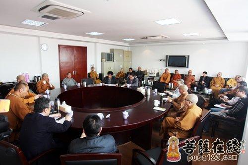 上海佛协召开会长办公扩大会议祝贺觉醒法师任中佛协