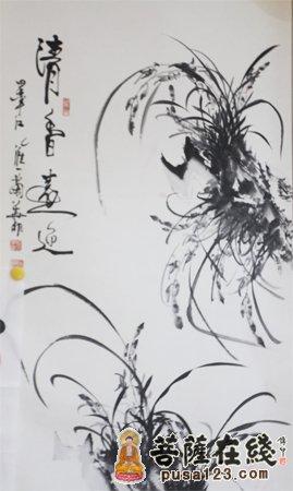 水墨兰花(图片来源:菩萨在线 摄影:妙音)-龙润天珏 穿越徽文化与