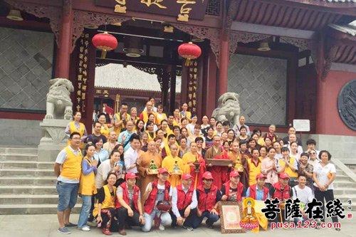 重庆长寿区菩提山菩提寺隆重举行贝叶经迎请仪式