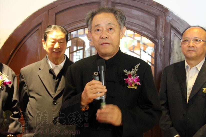 前南京博物院院长、文博大家徐湖平致辞(图片来源:菩萨在线 摄影:妙甜)
