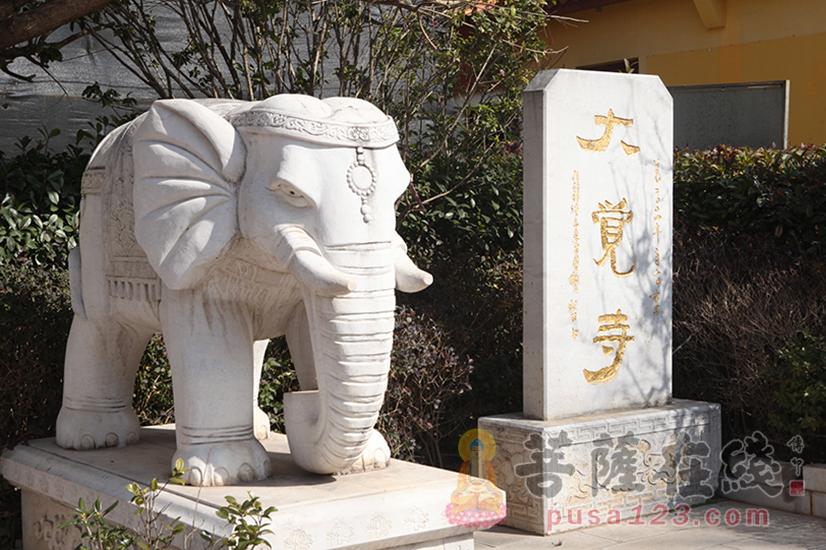 大觉寺石碑(图片来源:菩萨在线 摄影:妙静)