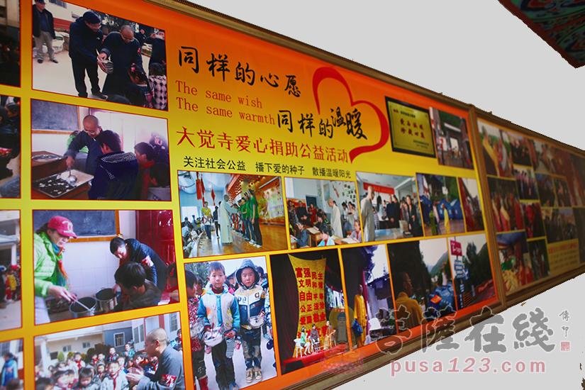大觉寺图片展示墙(图片来源:菩萨在线 摄影:妙静)