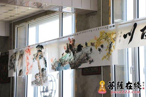 中国书画家联谊会王子忠会长赴五台山东台顶望海寺图片