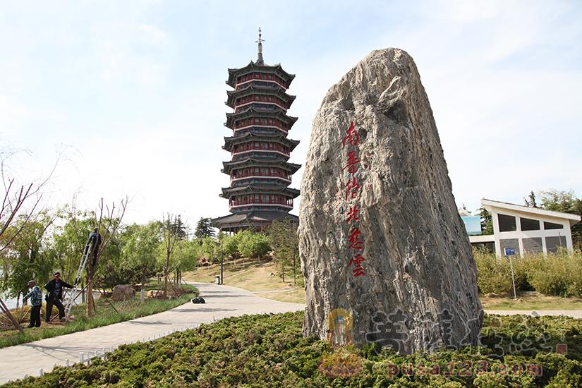 寺院高塔竖立(图片来源:菩萨在线 摄影:妙双)