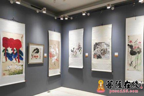 第二届佛语禅心中国书画名家禅意作品邀请展开幕