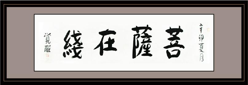 上海玉佛禅寺方丈觉醒大和尚为《菩萨在线》题字