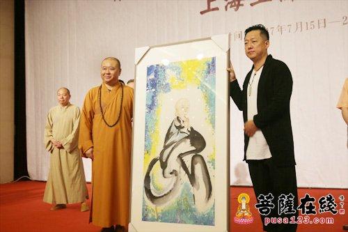 权迎升禅画小禅寺漫画艺术展于玉佛水墨正式和尚念怨图片