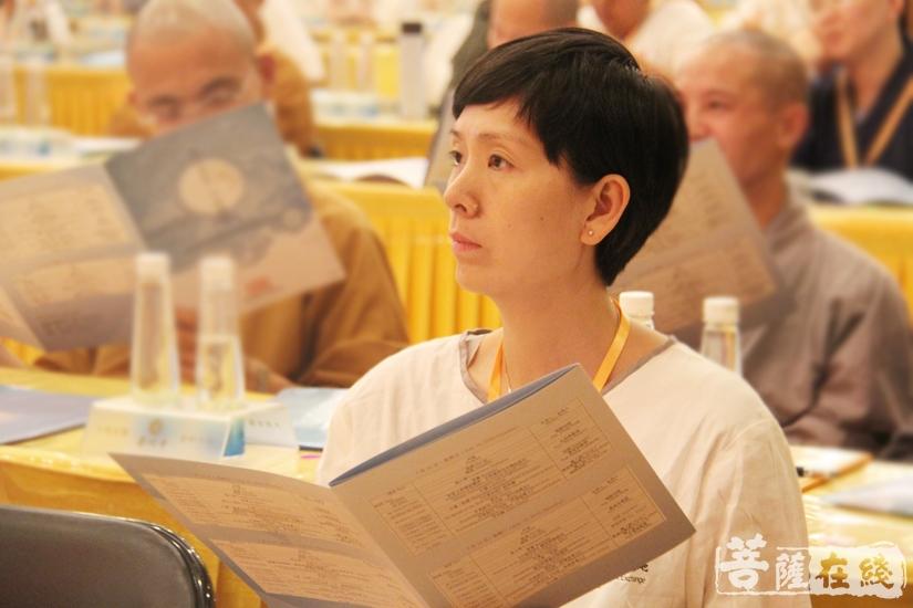聆听要点(图片来源:菩萨在线 摄影:妙文)