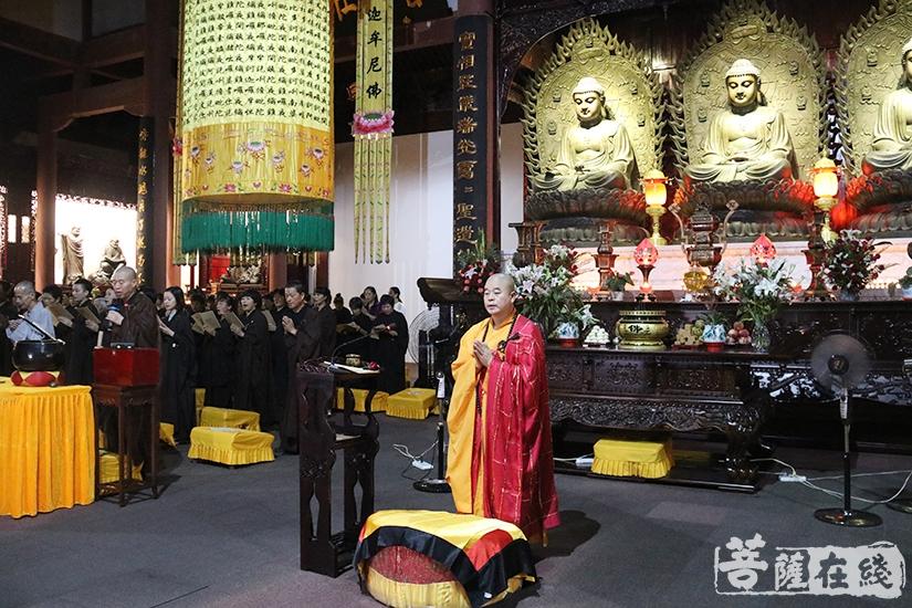福慧寺住持道元法师主法(图片来源:菩萨在线 摄影:妙月)