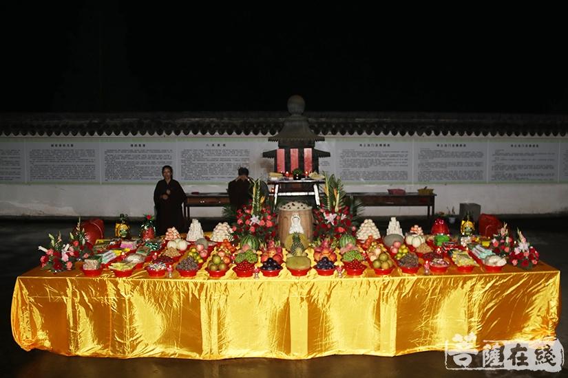 斋天法会(图片来源:菩萨在线 摄影:妙月)
