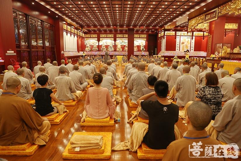 坐禅(图片来源:菩萨在线 摄影:妙澄)