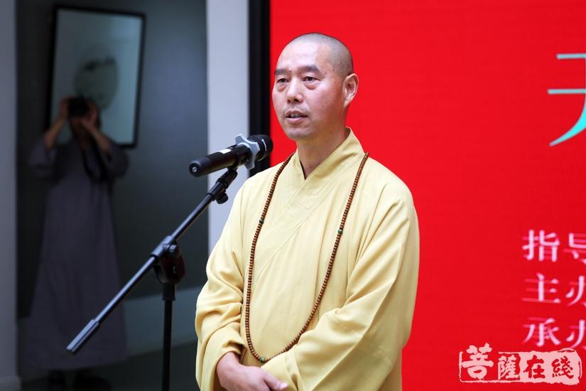智文法师希望学员以笔墨做佛事,在佛教修行和佛教艺术上双增长(图片来源:菩萨在线 摄影:妙雨)