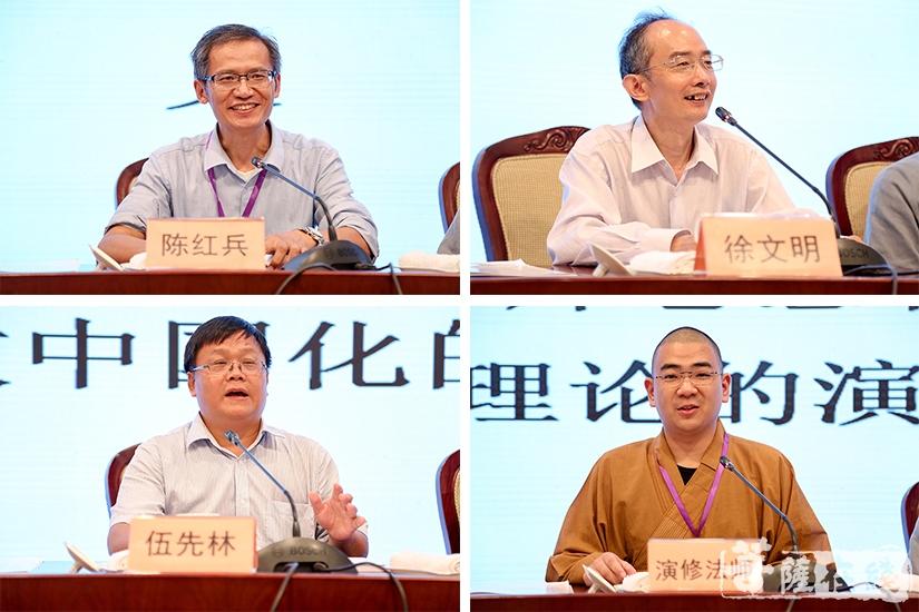 陈红兵、徐文明、伍先林、演修法师(图片来源:菩萨在线 摄影:果仁)