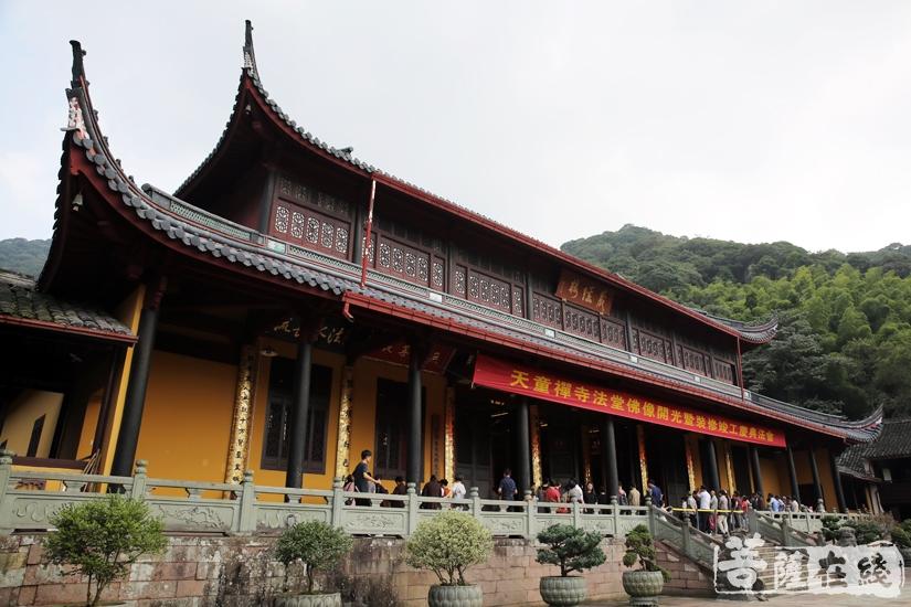 天童禅寺法堂在十方善信的布施喜舍、发菩提心下圆满竣工(图片来源:菩萨在线 摄影:妙雨)