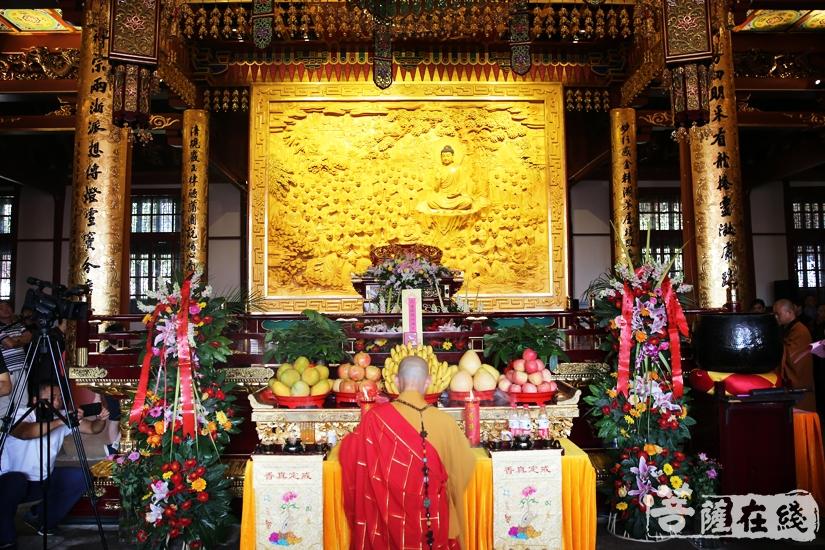 中秋佳节圣像开光,功德回向有情众生(图片来源:菩萨在线 摄影:妙雨)