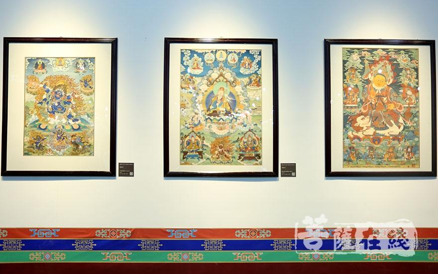 藏族唐卡藝術展(圖片來源:菩薩在線 攝影:妙梵)