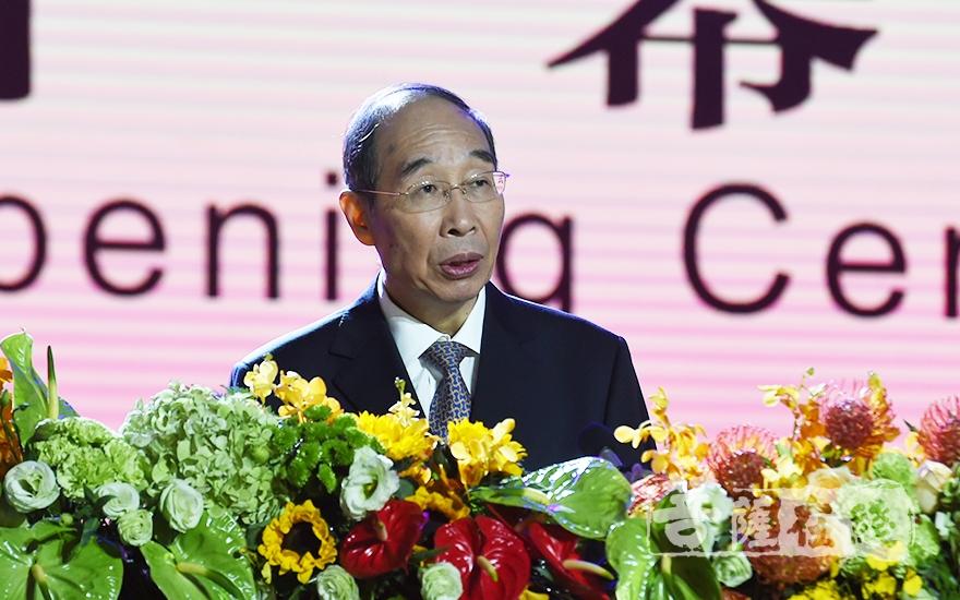 中共中央書記處書記、中央統戰部部長尤權出席論壇開幕式并致辭
