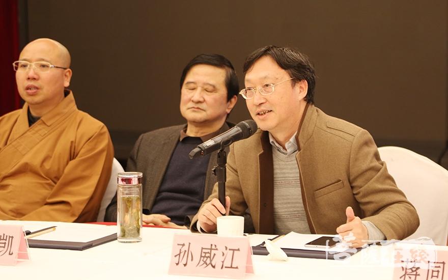 福建农林大学教授孙威江作学术小结时,肯定了本次交流会的意义(图片来源:菩萨在线 摄影:妙澄)
