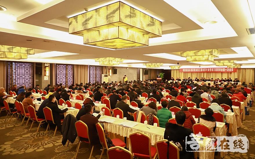 安徽省赵朴初研究会旨在纪念朴老、弘扬朴老的伟大精神(图片来源:菩萨在线 摄影:妙澄)